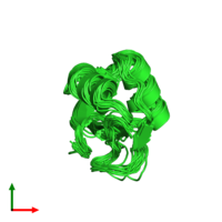 PDB 2jvr coloured by chain and viewed from the top.