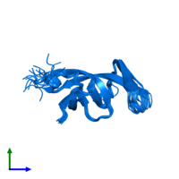 PDB 2jys contains 1 copy of Protease/Reverse transcriptase in assembly 1. This protein is highlighted and viewed from the side.