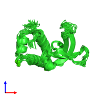PDB 2k2v coloured by chain and viewed from the front.