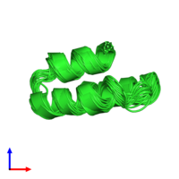 PDB 2k9d coloured by chain and viewed from the side.