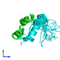 PDB 2k9r coloured by chain and viewed from the front.
