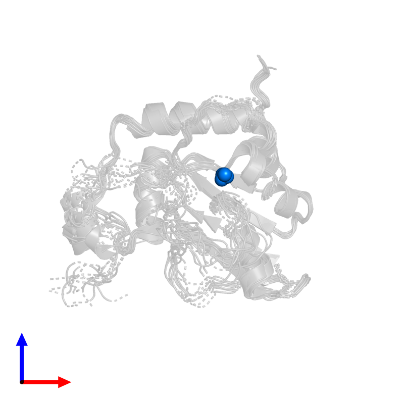 <div class='caption-body'>PDB entry 2kbo contains 1 copy of ZINC ION in assembly 1. This small molecule is highlighted and viewed from the front.</div>