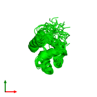 0-meric assembly 1 of PDB entry 2knj coloured by chemically distinct molecules and viewed from the top.