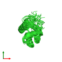 PDB 2knj coloured by chain and viewed from the top.