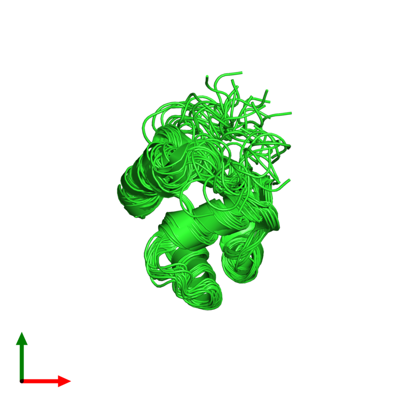 <div class='caption-body'><ul class ='image_legend_ul'>The deposited structure of PDB entry 2knj coloured by chain and viewed from the top. The entry contains: <li class ='image_legend_li'>1 copy of Microplusin preprotein</li><li class ='image_legend_li'>There are no non-polymeric molecules</li></ul></li></ul></li></div>