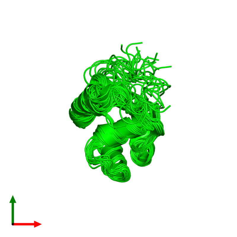 <div class='caption-body'><ul class ='image_legend_ul'>The deposited structure of PDB entry 2knj coloured by chemically distinct molecules and viewed from the top. The entry contains: <li class ='image_legend_li'>1 copy of Microplusin preprotein</li><li class ='image_legend_li'>There are no non-polymeric molecules</li></ul></li></ul></li></div>
