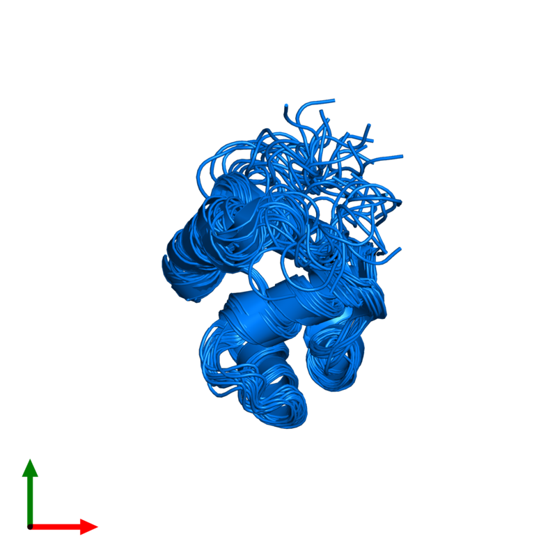<div class='caption-body'>PDB entry 2knj contains 1 copy of Microplusin preprotein in assembly 1. This protein is highlighted and viewed from the top.</div>