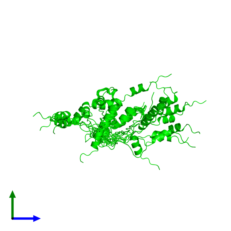 <div class='caption-body'><ul class ='image_legend_ul'>The deposited structure of PDB entry 2ko6 coloured by chemically distinct molecules and viewed from the side. The entry contains: <li class ='image_legend_li'>1 copy of Uncharacterized protein yihD</li><li class ='image_legend_li'>There are no non-polymeric molecules</li></ul></li></ul></li></div>