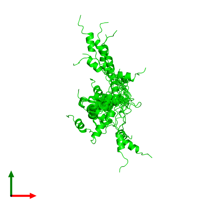 <div class='caption-body'><ul class ='image_legend_ul'>The deposited structure of PDB entry 2ko6 coloured by chemically distinct molecules and viewed from the top. The entry contains: <li class ='image_legend_li'>1 copy of Uncharacterized protein yihD</li><li class ='image_legend_li'>There are no non-polymeric molecules</li></ul></li></ul></li></div>