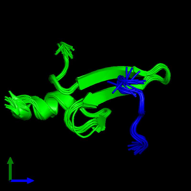<div class='caption-body'><ul class ='image_legend_ul'>The deposited structure of PDB entry 2laj coloured by chemically distinct molecules and viewed from the front. The entry contains: <li class ='image_legend_li'>1 copy of E3 ubiquitin-protein ligase NEDD4-like</li><li class ='image_legend_li'>1 copy of Mothers against decapentaplegic homolog 3</li><li class ='image_legend_li'>There are no non-polymeric molecules</li></ul></li></ul></li></div>