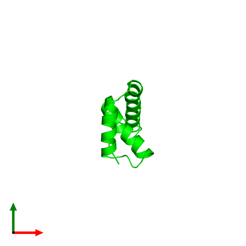 <div class='caption-body'><ul class ='image_legend_ul'> Monomeric assembly 1 of PDB entry 2le4 coloured by chemically distinct molecules and viewed from the top. This assembly contains:<li class ='image_legend_li'>One copy of Transcription factor SOX-2</li></ul></div>