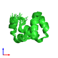 PDB 2lnm coloured by chain and viewed from the front.
