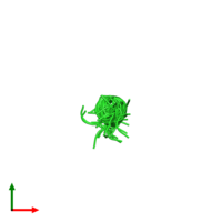 PDB 2ls2 coloured by chain and viewed from the top.