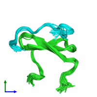 PDB 2ltx coloured by chain and viewed from the front.