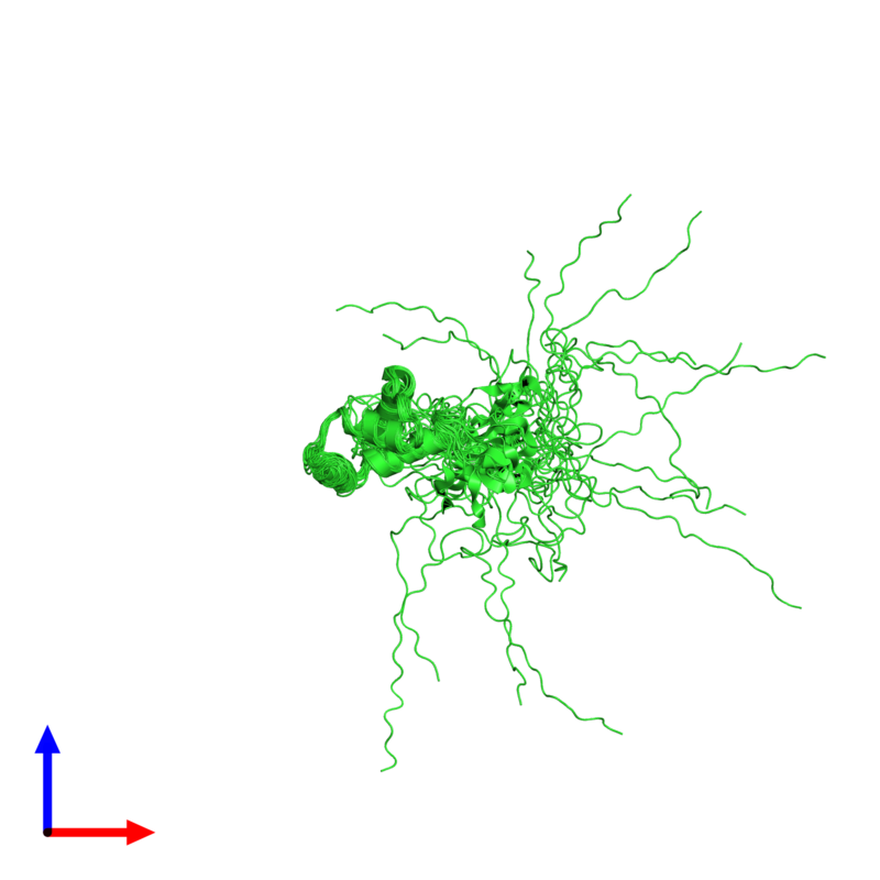 <div class='caption-body'><ul class ='image_legend_ul'>The deposited structure of PDB entry 2m0n coloured by chain and viewed from the front. The entry contains: <li class ='image_legend_li'>1 copy of Putative uncharacterized protein</li><li class ='image_legend_li'>There are no non-polymeric molecules</li></ul></li></ul></li></div>