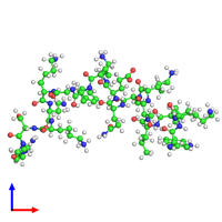 PDB 2md1 coloured by chain and viewed from the front.