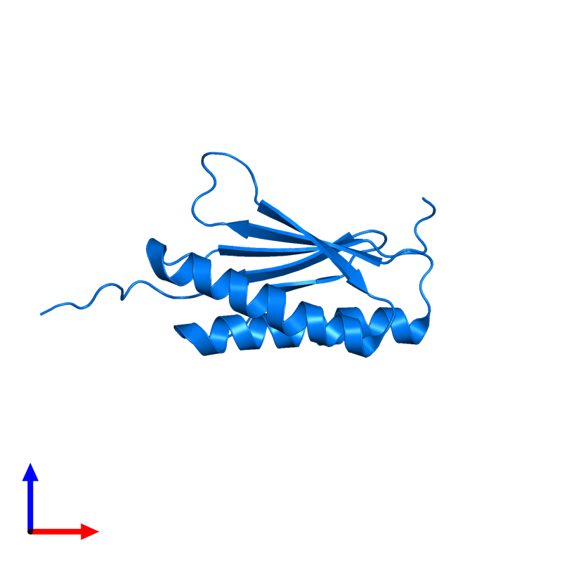 <div class='caption-body'>PDB entry 2mra contains 1 copy of De novo designed protein OR459 in assembly 1. This protein is highlighted and viewed from the front.</div>