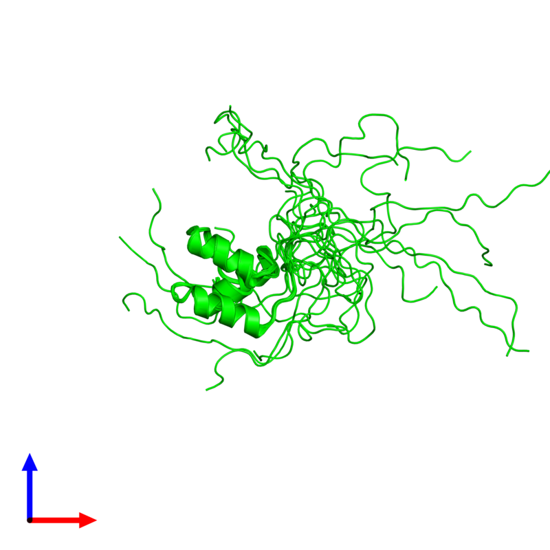 <div class='caption-body'><ul class ='image_legend_ul'>The deposited structure of PDB entry 2myx coloured by chemically distinct molecules and viewed from the front. The entry contains: <li class ='image_legend_li'>1 copy of Coupling of ubiquitin conjugation to ER degradation protein 1</li><li class ='image_legend_li'>There are no non-polymeric molecules</li></ul></li></ul></li></div>
