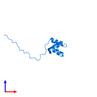 PDB 2myx contains 1 copy of Coupling of ubiquitin conjugation to ER degradation protein 1 in assembly 1. This protein is highlighted and viewed from the front.