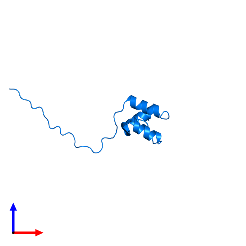 <div class='caption-body'>PDB entry 2myx contains 1 copy of Coupling of ubiquitin conjugation to ER degradation protein 1 in assembly 1. This protein is highlighted and viewed from the front.</div>