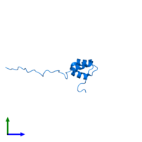 PDB 2myx contains 1 copy of Coupling of ubiquitin conjugation to ER degradation protein 1 in assembly 1. This protein is highlighted and viewed from the side.