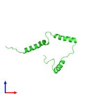 PDB 2n28 coloured by chain and viewed from the front.