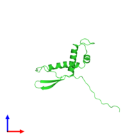 PDB 2nsc coloured by chain and viewed from the front.
