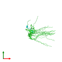PDB 2oj2 coloured by chain and viewed from the top.