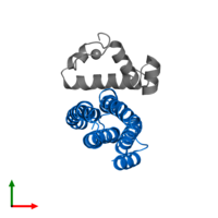 PDB 2p7v contains 1 copy of Regulator of sigma D in assembly 1. This protein is highlighted and viewed from the top.