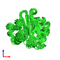 PDB 2prf coloured by chain and viewed from the front.