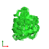 PDB 2prf coloured by chain and viewed from the top.