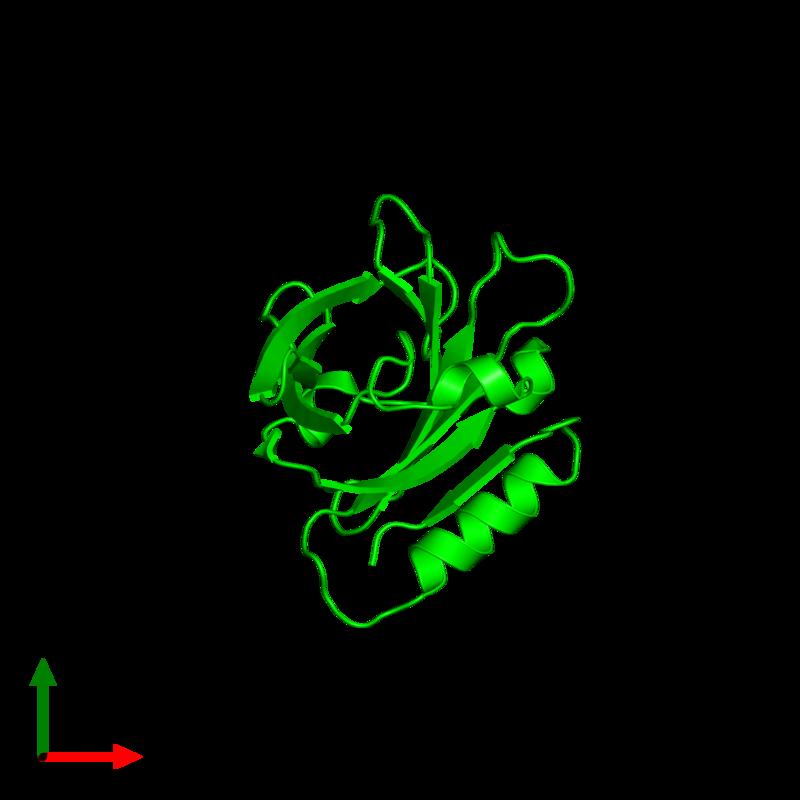 <div class='caption-body'><ul class ='image_legend_ul'>The deposited structure of PDB entry 2q2m coloured by chemically distinct molecules and viewed from the top. The entry contains: <li class ='image_legend_li'>1 copy of Beta-lactoglobulin</li><li class ='image_legend_li'>There are no non-polymeric molecules</li></ul></li></ul></li></div>