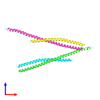 PDB 2qa7 coloured by chain and viewed from the front.