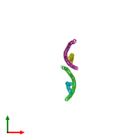 PDB 2qa7 coloured by chain and viewed from the top.