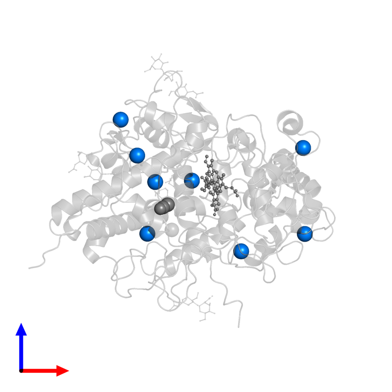 <div class='caption-body'>PDB entry 2qpk contains 8 copies of IODIDE ION in assembly 1. This small molecule is highlighted and viewed from the front.</div>