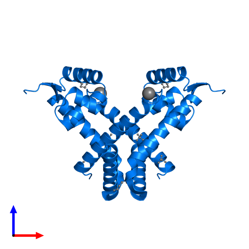 <div class='caption-body'>PDB entry 2rdp contains 2 copies of HTH marR-type domain-containing protein in assembly 1. This protein is highlighted and viewed from the front.</div>