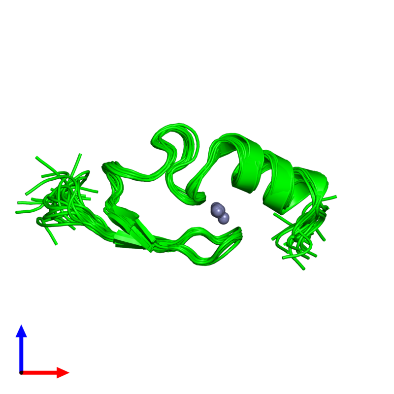 <div class='caption-body'><ul class ='image_legend_ul'>The deposited structure of PDB entry 2w0t coloured by chemically distinct molecules and viewed from the front. The entry contains: <li class ='image_legend_li'>1 copy of LETHAL(3)MALIGNANT BRAIN TUMOR-LIKE 2 PROTEIN</li><li class ='image_legend_li'>There is 1 non-polymeric molecule<ul class ='image_legend_ul'><li class ='image_legend_li'>1 copy of ZINC ION</li></ul></li></div>