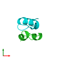 PDB 2ws0 coloured by chain and viewed from the top.