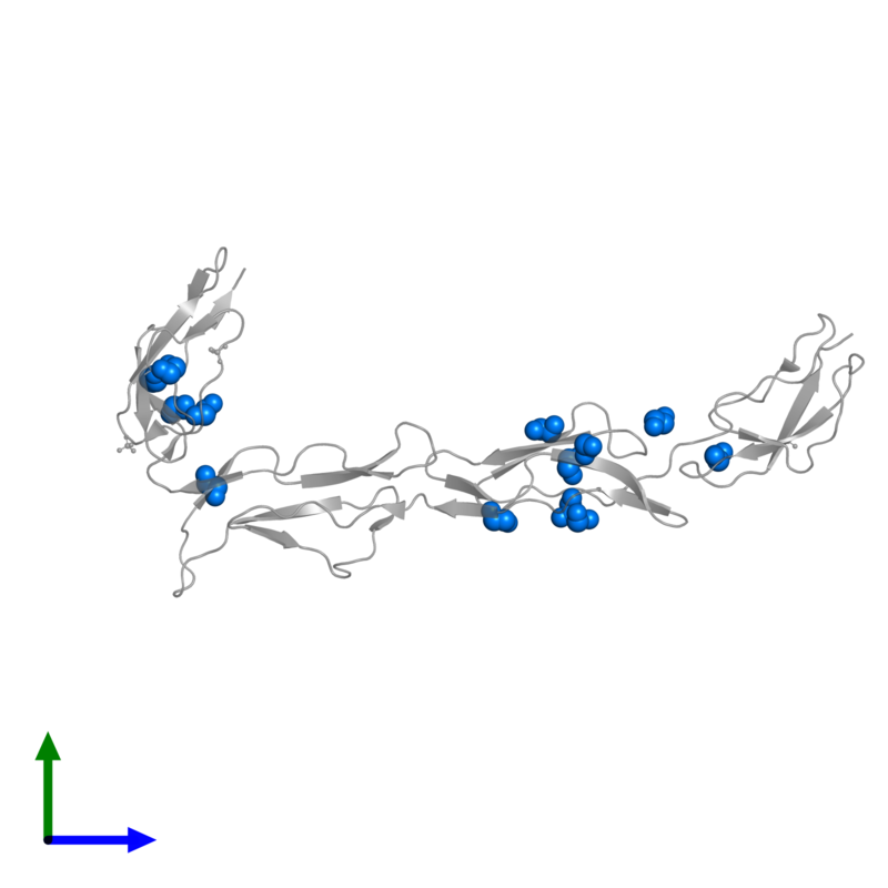 <div class='caption-body'>PDB entry 2xrb contains 13 copies of 1,2-ETHANEDIOL in assembly 1. This small molecule is highlighted and viewed from the front.</div>