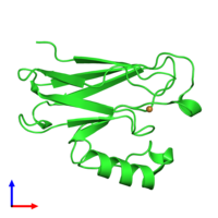 PDB 2xv0 coloured by chain and viewed from the front.