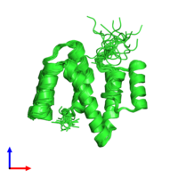 PDB 2xv9 coloured by chain and viewed from the front.