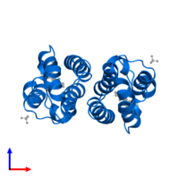 PDB 2ydw contains 2 copies of Bromodomain-containing protein 2 in assembly 1. This protein is highlighted and viewed from the side.