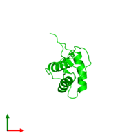 0-meric assembly 1 of PDB entry 2ysr coloured by chemically distinct molecules and viewed from the top.