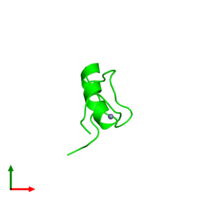 0-meric assembly 1 of PDB entry 2ytb coloured by chemically distinct molecules and viewed from the top.
