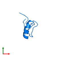 PDB 2ytb contains 1 copy of Zinc finger protein 32 in assembly 1. This protein is highlighted and viewed from the top.