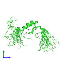 PDB 2ytn coloured by chain and viewed from the front.