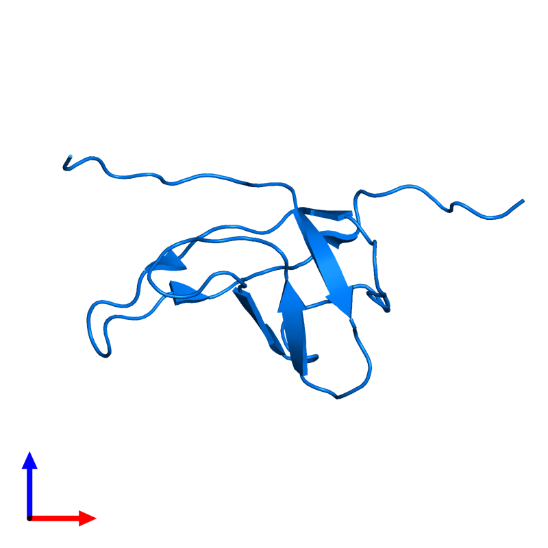 <div class='caption-body'>PDB entry 2ytv contains 1 copy of Cold shock domain-containing protein E1 in assembly 1. This protein is highlighted and viewed from the front.</div>