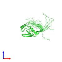 PDB 2ytw coloured by chain and viewed from the front.