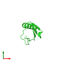 PDB 2yzt coloured by chain and viewed from the top.