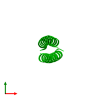 Dimeric assembly 1 of PDB entry 2zta coloured by chemically distinct molecules and viewed from the top.